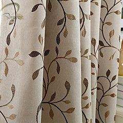 cheap Window Treatments-Rod Pocket Grommet Top Tab Top Double Pleat Pencil Pleat One Panel Curtain Modern Designer European Neoclassical Country, Print & Jacquard