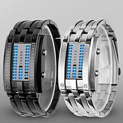 cheap Men's Watches-Men's Digital Digital Watch Wrist Watch Water Resistant / Water Proof LED Alloy Band Luxury Black Silver