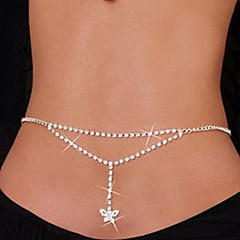 Belly navel chain Fashion Woman Chain Heart and Butterfly Dance Waist Navel Chain Bikini Body Chain Christmas Gifts