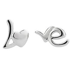billiga -Dam Sterlingsilver Silver Dubb Örhängen - Silver örhängen Till Bröllop Party Dagligen Casual Sport