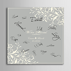 E-HOME® Personalized Signature Canvas Frame-Decorative Pattern