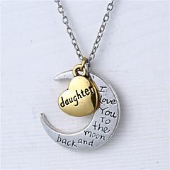 sinkin seos sydän ja kuu tytär rakastan sinua kuuhun ja takaisin kaulakoru