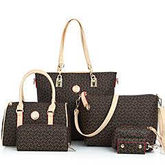 Mulheres Bolsas PU Tote / Carteiras / Bolsa de Ombro 6 Pcs Purse Set Artística Azul / Rosa claro / Azul Claro / Conjuntos de sacolas / Conjuntos de saco