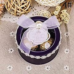 preiswerte Gastgeschenk Boxen & Verpackungen-Zylinder Kartonpapier Geschenke Halter Mit Schleife Geschenkboxen Geschenk Schachteln