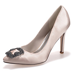 cheap Wedding Shoes-Women's Shoes Silk Stiletto Heel Pointed Toe Pumps/Heels Wedding/Party & Evening More Colors available