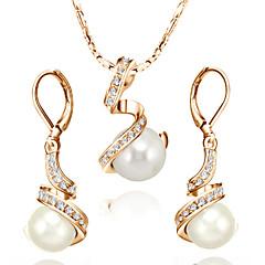 billige Smykke Sett-Dame Krystall Smykkesett - Perle, Krystall, Imitert Perle damer Inkludere Til Bryllup Fest Daglig Avslappet / Kubisk Zirkonium