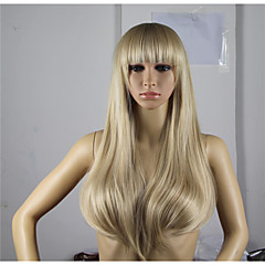 cheap Wigs & Hair Pieces-Synthetic Wig Women's Wavy Golden Asymmetrical Synthetic Hair Natural Hairline Golden / Blonde Wig Long Capless Blonde