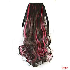 billiga Peruker och hårförlängning-Kroppsvågor Syntetiskt hår Hårstycke HÅRFÖRLÄNGNING 18 tum Regnbåge