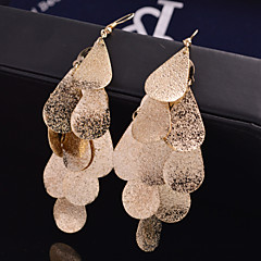 Women's Drop Earrings Statement Jewelry Festival/Holiday Luxury Personalized Bridal Costume Jewelry Alloy Leaf Jewelry For Wedding Party