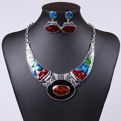 Women's Jewelry Set Drop Earrings Pendant Necklaces Unique Design Vintage Party Work Casual Colorful European Statement Jewelry