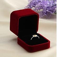 billige Smykkeemballage og displays-Smykkeskrin - Mode Sort, Rød 5 cm 6 cm 4 cm / Dame