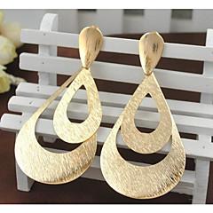 נשים עגילי טיפה תכשיטים גדולים אופנתי ציפוי זהב סגסוגת תכשיטים עבור