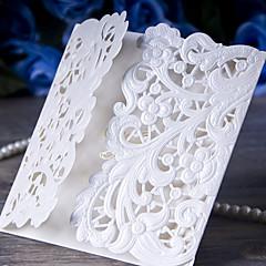 三つ折りの結婚式の招待状50枚の招待状のカード紙の結婚式の招待状