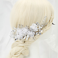 cheap Hair Jewelry-Imitation Pearl Rhinestone Alloy Hair Combs 1 Wedding Special Occasion Headpiece