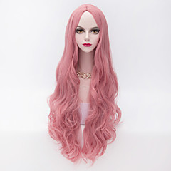 cheap Wigs & Hair Pieces-80cm long loose wavy u part hair pink heat resistant synthetic fashion party wig