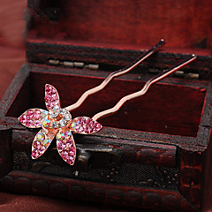 cheap Party Headpieces-Rhinestone Alloy Hair Pin Headpiece Elegant Classical Feminine Style
