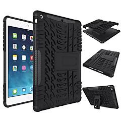 Varten kotelot kuoret Iskunkestävä Tuella Takakuori Etui Yksivärinen Kova Silikoni varten Apple iPad (2017) iPad Air 2 iPad Air Pro10.5