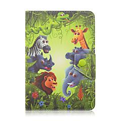 용 충격방지 방진 스탠드 자동 슬립/웨이크 기능 패턴 마그네틱 케이스 풀 바디 케이스 카툰 하드 인조 가죽 용 UniversaliPad Pro 9.7'' iPad Air 2 iPad Air iPad 4/3/2 Note 10.1 Note 10.1