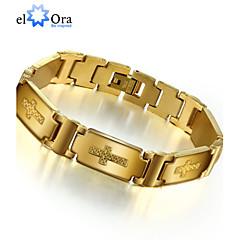 Herrn Ketten- & Glieder-Armbänder Armband Einzigartiges Design Modisch Edelstahl Schmuck Gold Schmuck Für Party 1 Stück