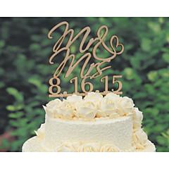 Kakepynt Personalisert Klassisk Par Hjerter Kort Papir Bryllup Jubileum Utdrikkingslag Gul Blomster Tema Klassisk Tema Eventyr Tema 1