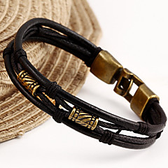 leather Charm BraceletsFashion Bracelet Women European Style Leather Vintage Bracelet Christmas Gifts