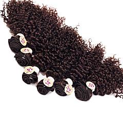 お買い得  カラー・ヘアエクステンション-人間の髪編む ブラジリアンヘア カール 12ヶ月 ヘア織り