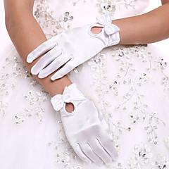До запястья С открытыми подушечками пальцев Перчатка Спандекс Свадебные перчатки Вечерние перчатки Осень Весна Бант