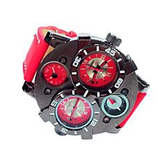 JUBAOLI® Men's Military Style Black Case Khaki Leather Band Quartz Wrist Watch Cool Watch Unique Watch Fashion Watch