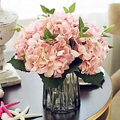 billige Kunstige blomster-Kunstige blomster 1 Gren Europeisk Stil Hortensiaer Bordblomst