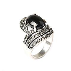 指輪 ファッション パーティー ジュエリー 樹脂 / 銀メッキ ステートメントリング 1個,ワンサイズ ゴールデン