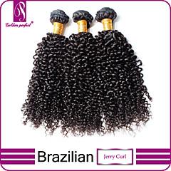 お買い得  人毛つけ毛-ブラジリアンヘア クラシック / Kinky Curly バージンヘア 人間の髪編む 3バンドル 人間の髪織り / その他の特徴カーリー