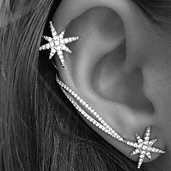 Women's Ear Cuffs Earrings Fashion Personalized European Costume Jewelry Rhinestone Alloy Star Jewelry For Wedding Party Gift Daily Casual