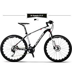 billige Sykler-Fjellsykkel Sykling 30 Speed 27.5 Inch SHIMANO M610 Dobbel skivebremse Luftfjæringsgaffel Sykkelramme Uten Bak Fjær Vanlig