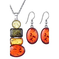 baratos Conjuntos de Bijuteria-Mulheres Strass Conjunto de jóias Brincos / Colares - Arco-Íris Para Casamento / Festa / Aniversário