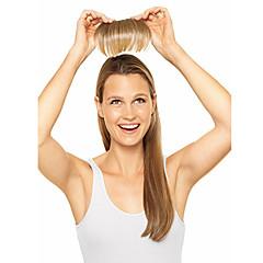 Χαμηλού Κόστους Αλογοουρές-Φράντζες Ίσιο Κλασσικά Συνθετικά μαλλιά Hair Extension Κουμπωτό Καθημερινά / Ίσια