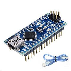 رخيصةأون -ATMEGA328P نانو V3.0 لاردوينو (يعمل مع لوحات اردوينو الرسمية)