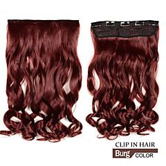 お買い得  人工毛ヘアエクステンション-合成波状で長いクリップ/ 5クリップでカーリーヘアエクステンションバーグ