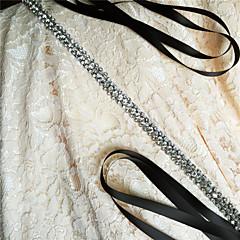 Saten Düğün / Parti/Gece / Günlük Kuşak-Boncuklar / Taşlı Kadın 98 ½inç(250cm) Boncuklar / Taşlı