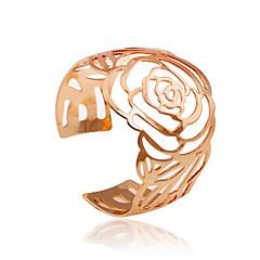 Naisten Rannekkeet minimalistisesta Ontto Metalliseos Flower Shape Rose Kultainen Korut Varten Party Päivittäin Kausaliteetti 1kpl