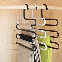 Χαμηλού Κόστους Διακόσμηση Σπιτιού-πολυλειτουργικό s μαγικό παντελόνι ντουλάπα σιδήρου γάντζο αντιολισθητικά υποστήριξη πολλαπλών στρώσεων (τυχαία χρώμα)