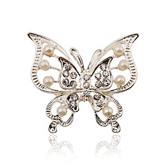 cheap Pins and Brooches-Women's Brooches Imitation Pearl Rhinestone Silver Plated Stylish Fashion Jewelry Wedding Party Dailywear Daily Costume Jewelry