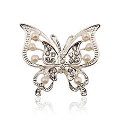 stříbření / imitace perel / drahokamu brož ženy motýl brož svatební / strana 1ks