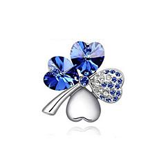 høy kvalitet ny mote gull / sølv belagt østerriksk krystall elegante fire blad hjerte kløver brosjer pins smykker
