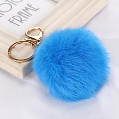 baratos Chaveiros-Chaveiro Azul / Rosa claro / Azul Claro Formato Circular Pele Simples, Vintage, Na moda Para Casamento / Festa / Diário / Mulheres