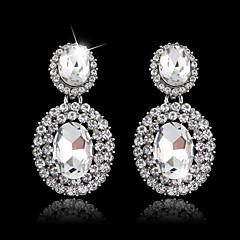 Dråpe Øreringer Sølv / Kubisk Zirkonium / Legering Earring Dame Multi-stein / Krystall