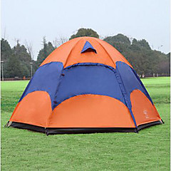 Sheng yuan 3-4 사람 텐트 더블 베이스 캠핑 텐트 원 룸 접이식 텐트 안티 곤충 통기성 대형 용 하이킹 캠핑 1500-2000 mm 240*240*135 CM