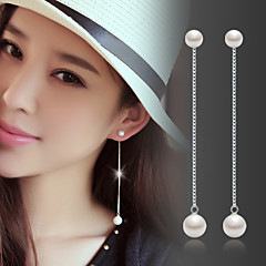 cheap -Women's Pearl Pearl Sterling Silver Silver Drop Earrings - Birthstones Fashion For Wedding Party Daily