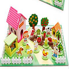직소 퍼즐 교육용 장난감 빌딩 블록 DIY 장난감 나무