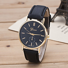 Женские Модные часы Повседневные часы Кварцевый Кожа Группа Черный Коричневый