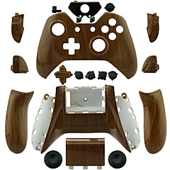 Xboxの1コントローラ用の交換用コントローラケース(木目)